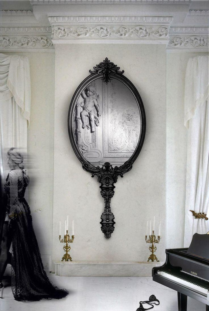 678 Best Must See Wall Mirror Ideas Images On Pinterest Pertaining To Black Wall Mirrors For Sale (Image 1 of 20)