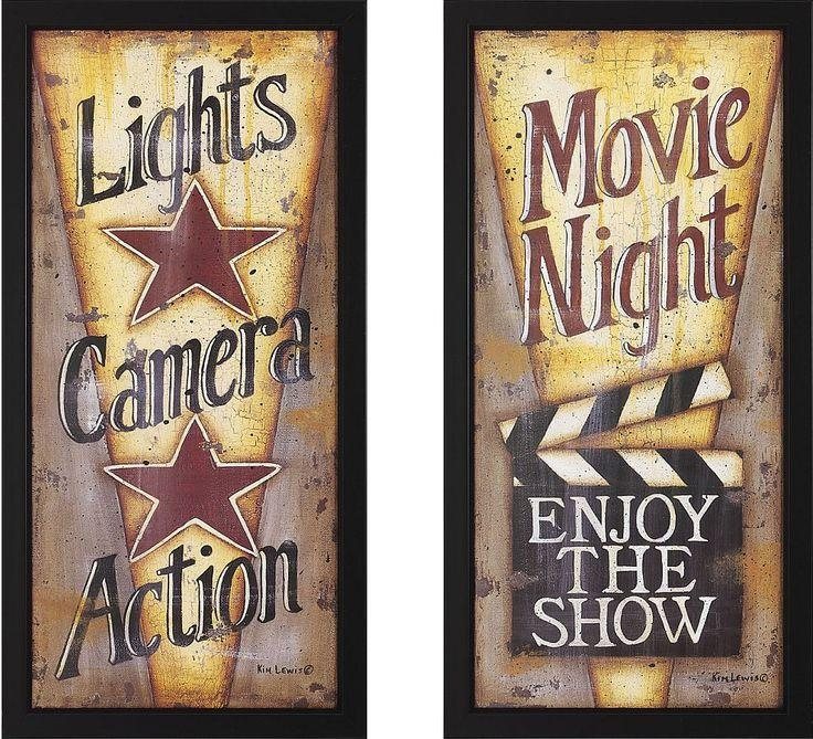 7 Best Movie Night Images On Pinterest | Movie Night Party Regarding Movie Themed Wall Art (View 8 of 20)