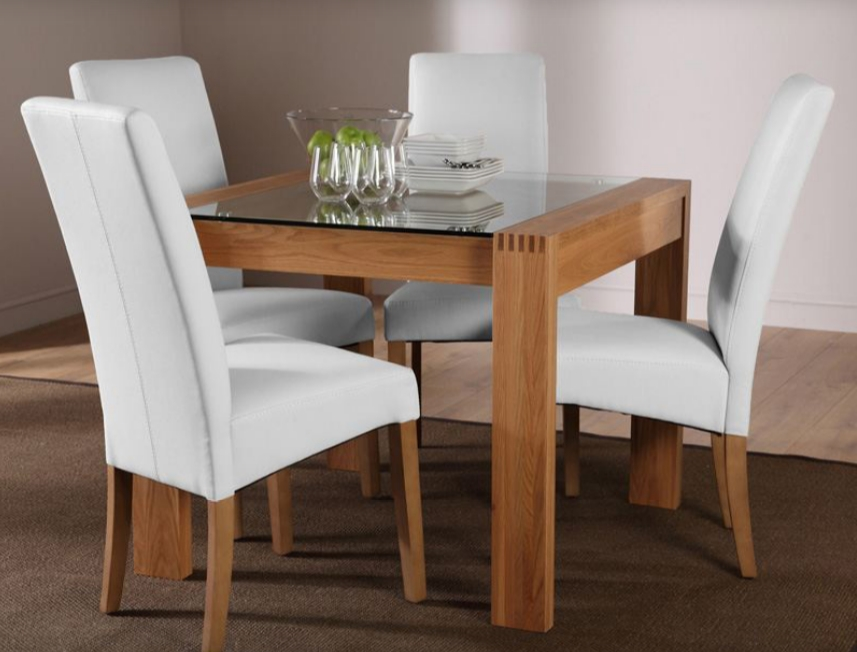 7 Contemporary Glass Square Dining Tables – Cute Furniture Uk For Current Oak And Glass Dining Tables Sets (Image 2 of 20)