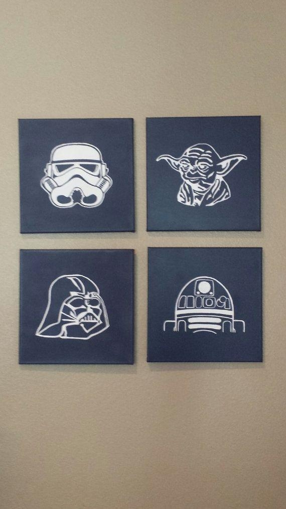 71 Best Garçon Images On Pinterest | Star Wars Bedroom, Star Wars Within Diy Star Wars Wall Art (Image 1 of 20)