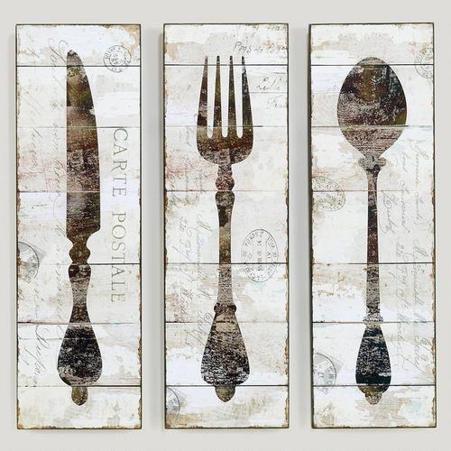 71 Best Knife, Fork, & Spoon Wall Art Images On Pinterest | Spoons Intended For Silverware Wall Art (View 2 of 20)