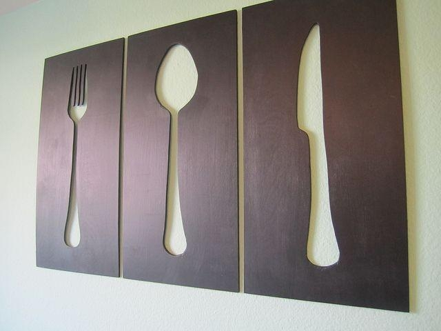 71 Best Knife, Fork, & Spoon Wall Art Images On Pinterest | Spoons With Regard To Utensil Wall Art (Image 3 of 20)
