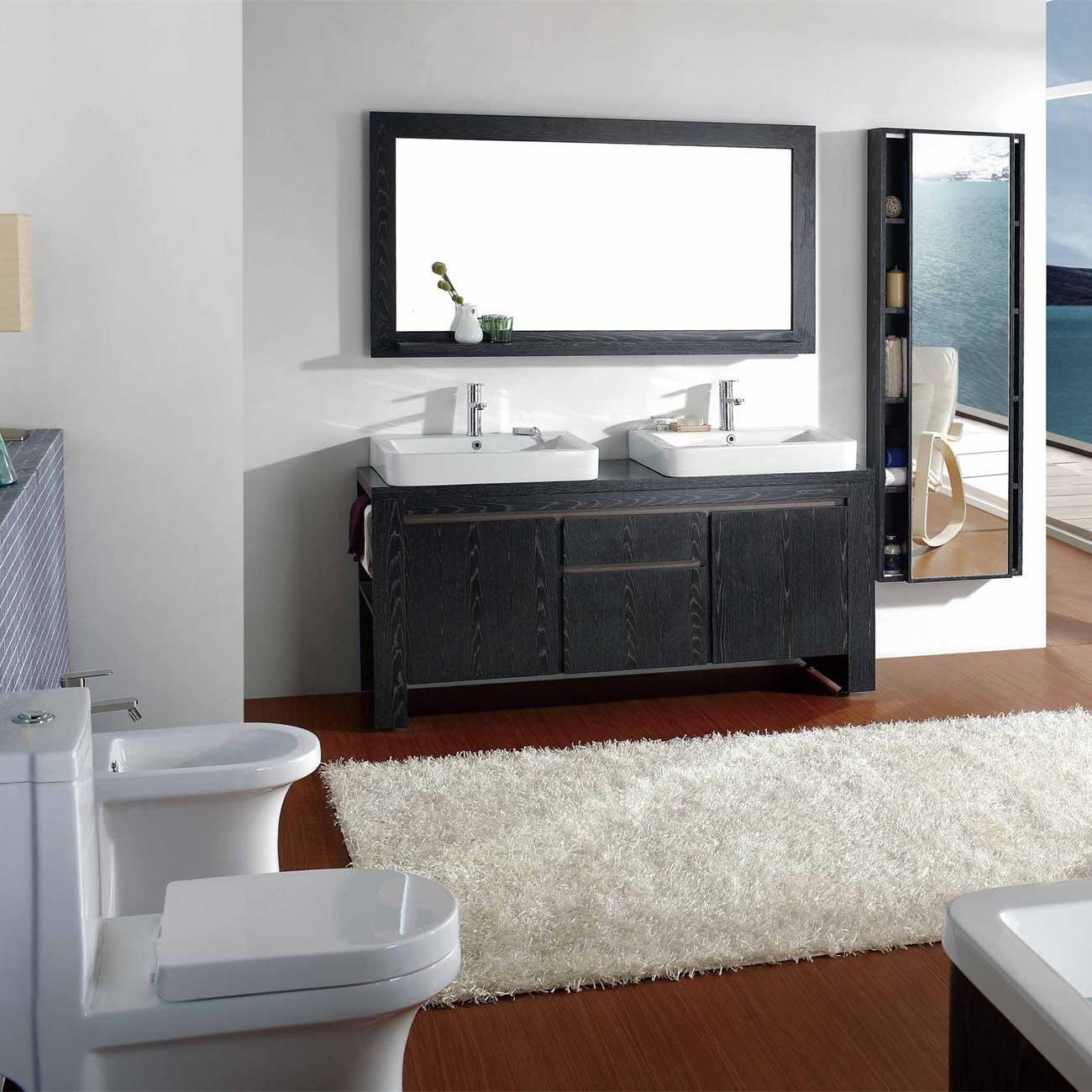 "71"" Double Bathroom Vanity Mirror Set Vm V12022 Bok – Conceptbaths In Bathroom Vanity Mirrors (Photo 4 of 20)"