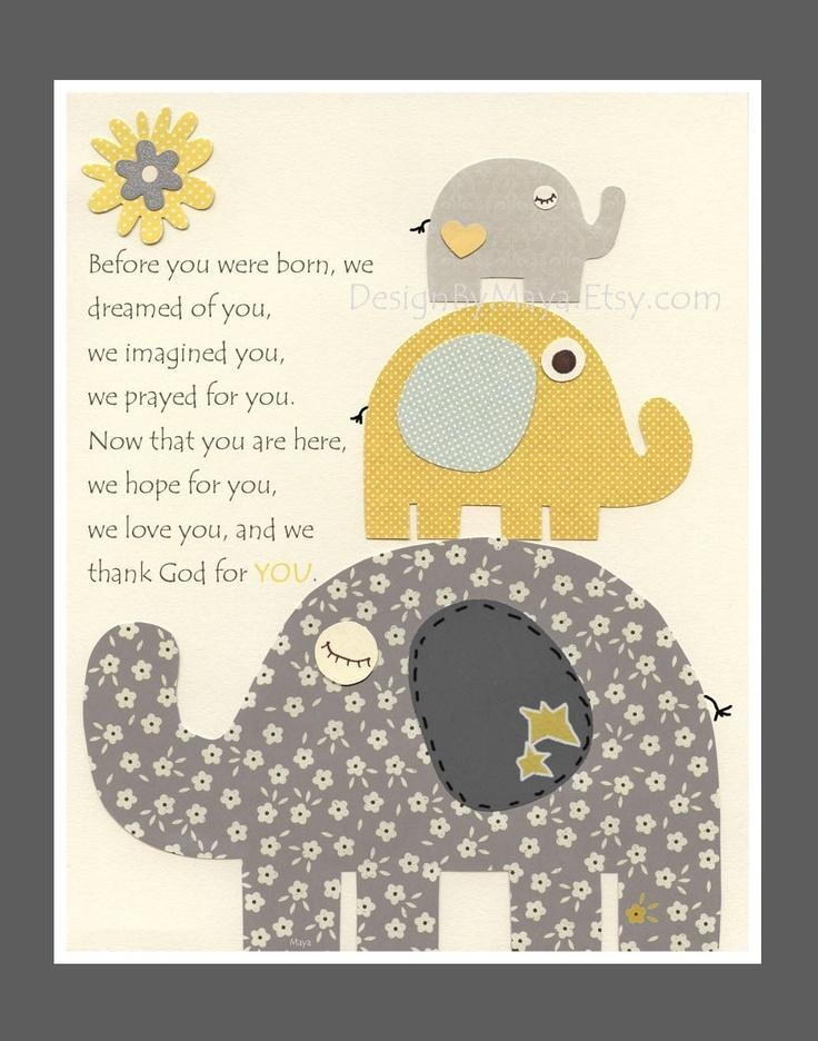 74 Best Baby Room Images On Pinterest | Baby Room, Nursery Ideas For Elephant Wall Art For Nursery (Image 1 of 20)