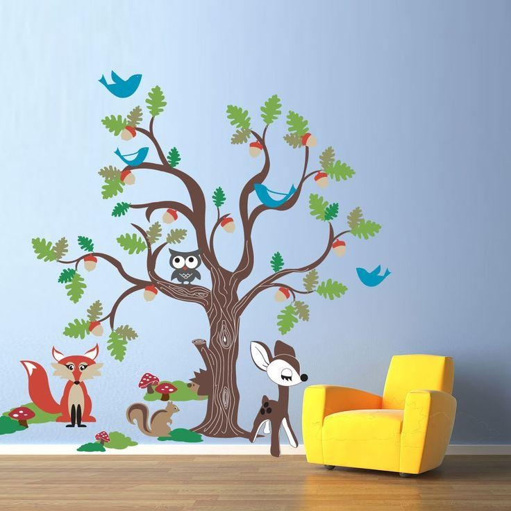 75 Best Duvar Stickerları Images On Pinterest | Kidsroom, Sticker Pertaining To Oak Tree Vinyl Wall Art (Image 9 of 20)