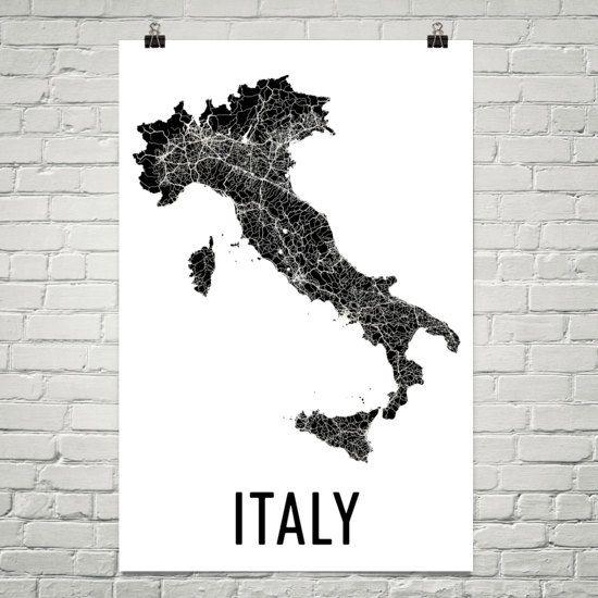 76 Best Map Art Images On Pinterest | Map Art, City Streets And With Regard To Italian Cities Wall Art (Image 9 of 20)