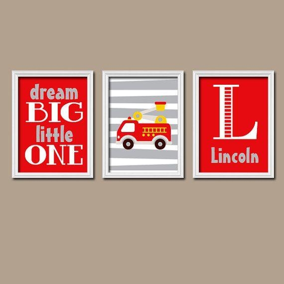 77 Best Fire Truck Kids Room Images On Pinterest | Fireman Room Within Fire Truck Wall Art (View 19 of 20)