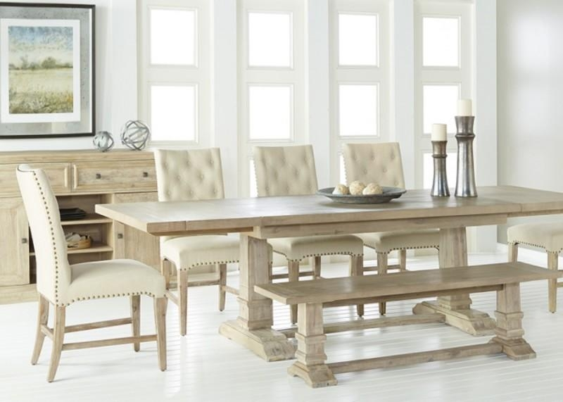 "78 110"" Length In Stone Wash Dining Table With Recent Stone Dining Tables (Image 1 of 20)"