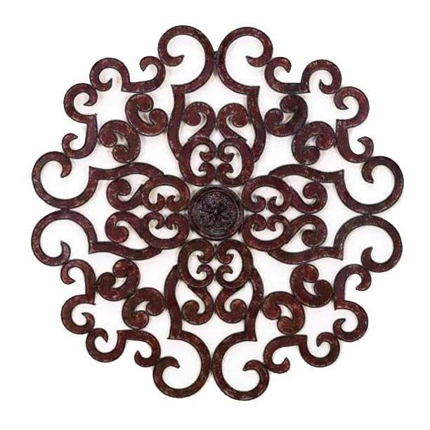 79 Best ~Wrought Iron Medallions £ Wall Decor~ Images On Pinterest With Regard To Outdoor Medallion Wall Art (Image 2 of 20)