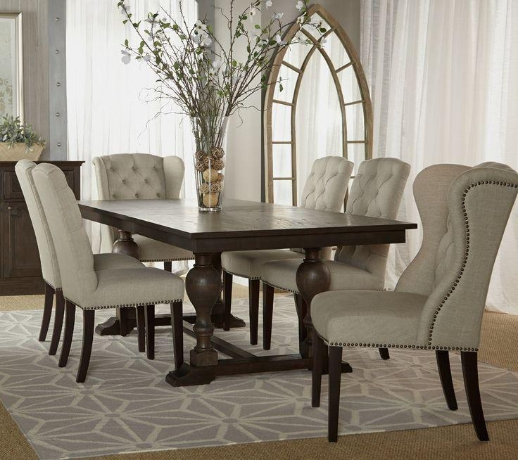 8 Best Dining Room Images On Pinterest | Ethan Allen, Dining Room Regarding 2018 Dining Tables And Fabric Chairs (Image 4 of 20)