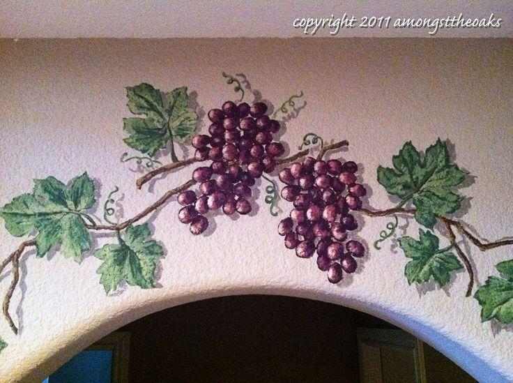 8 Best Murals Images On Pinterest | Mural Ideas, Faux Painting And In Grape Vineyard Wall Art (Image 7 of 20)