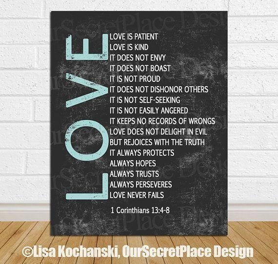8 Best Scripture Art Images On Pinterest | Bible Verses Inside Love Is Patient Love Is Kind Wall Art (Image 1 of 20)