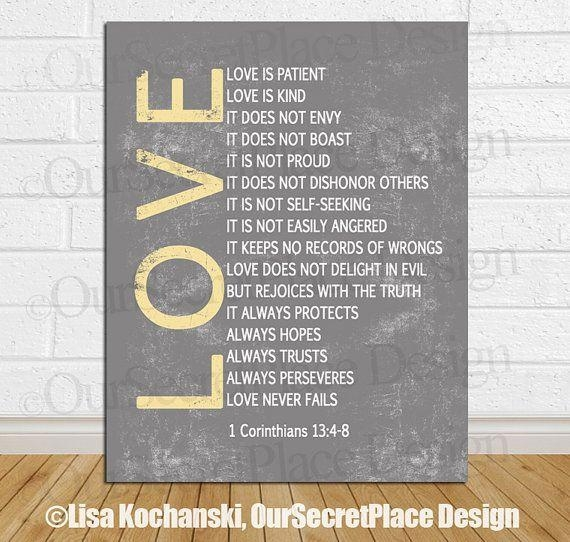 8 Best Scripture Art Images On Pinterest | Bible Verses With Love Is Patient Love Is Kind Wall Art (Image 2 of 20)