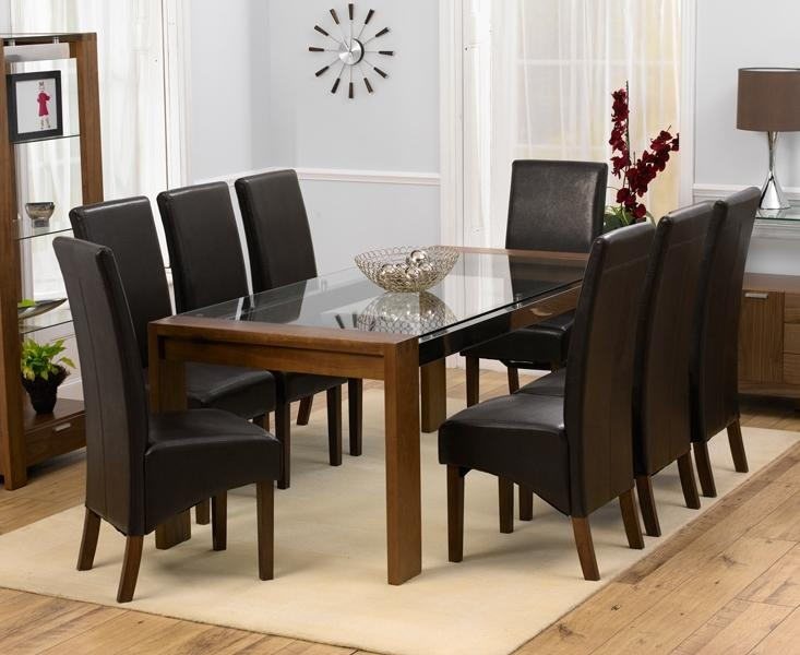 8 Chair Glass Dining Table » Gallery Dining Throughout Most Popular Dining Tables And 8 Chairs Sets (Image 3 of 20)