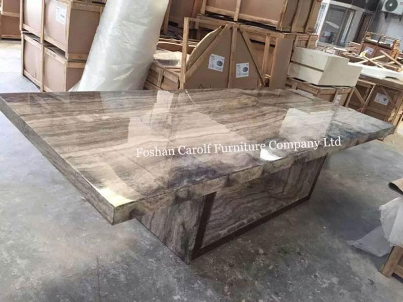 8 Seater Luxury Stone Marble Dining Table Set From China In 2018 Stone Dining Tables (Image 2 of 20)