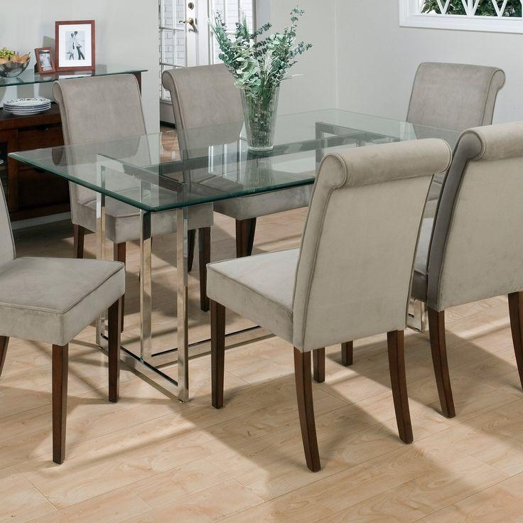 81 Best Glass Top Dining Room Tables Images On Pinterest | Glass In Most Recently Released Glasses Dining Tables (Image 2 of 20)