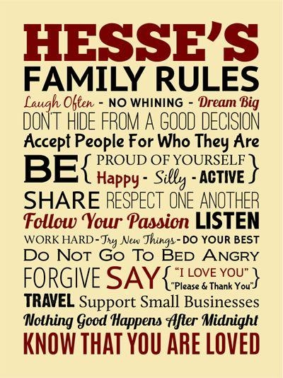 84 Best Family Images On Pinterest | Family Rules, Wrapped Canvas For Family Rules Canvas Wall Art (Photo 13 of 20)