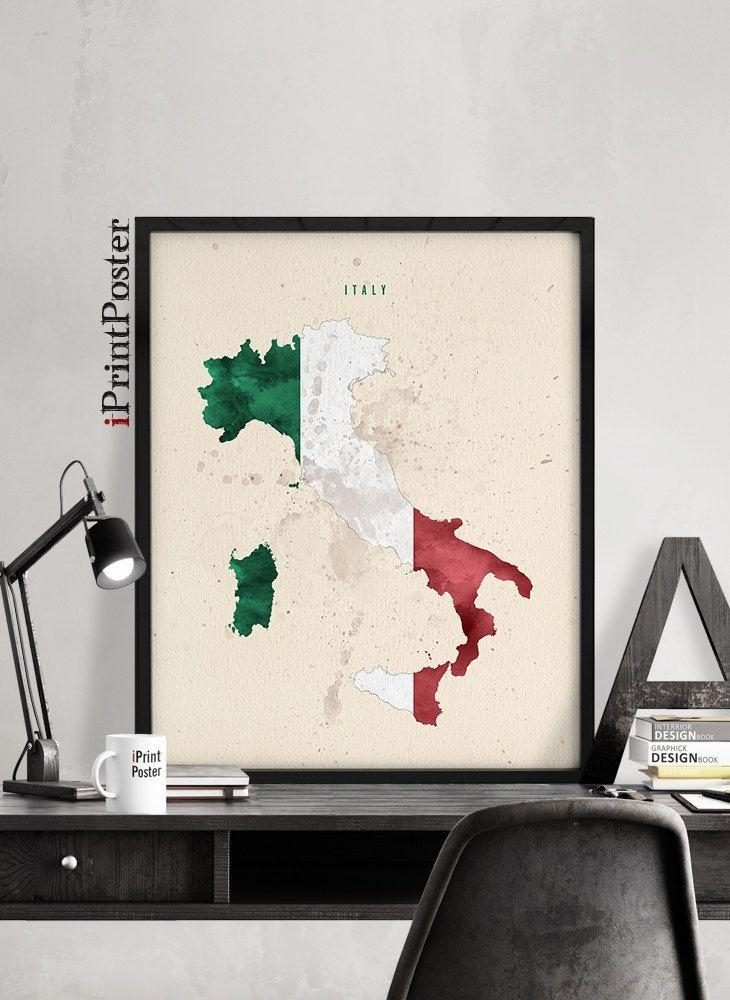85 Best Country Map And Flag Posters Images On Pinterest | Monitor Throughout Italian Flag Wall Art (Photo 12 of 20)