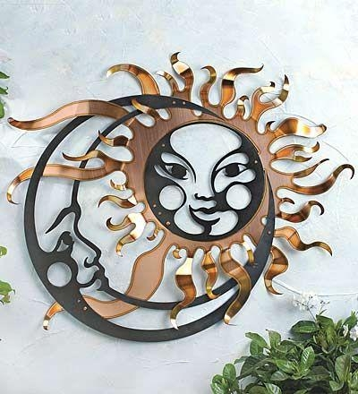 88 Best Outside Sun Decor Images On Pinterest | Sun Shine, Metal Intended For Sun And Moon Metal Wall Art (View 18 of 20)