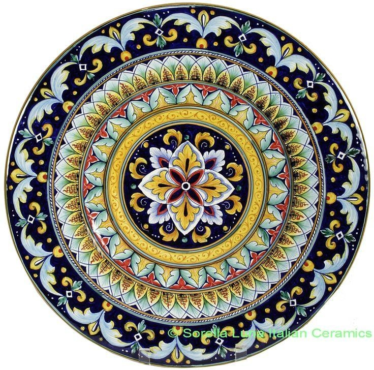 89 Best Tuscan Style Images On Pinterest | Italian Pottery Inside Italian Plates Wall Art Sets (Image 5 of 20)