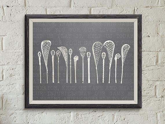8X10 Vintage Lacrosse Wall Art Lacrosse Stick Art Vintage With Lacrosse Wall Art (View 14 of 20)