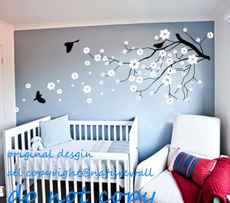 9 Best Baby Nursery Images On Pinterest | Blossom Trees, Home And Inside Cherry Blossom Vinyl Wall Art (Image 5 of 20)