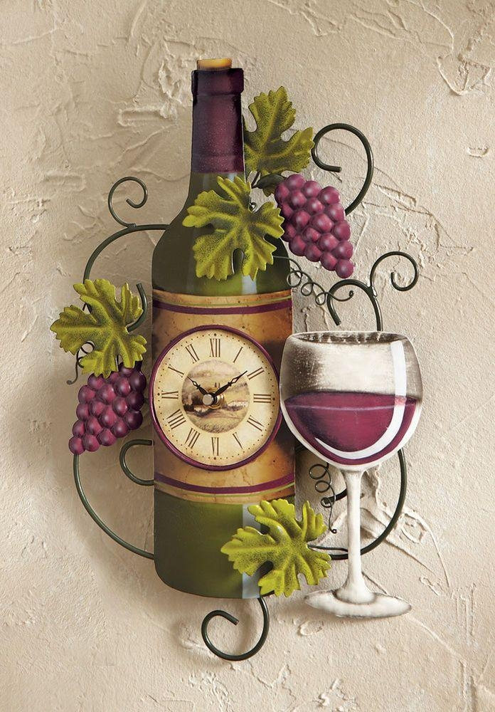 9 Best Ideas For My Wine Kitchen Images On Pinterest | Kitchen Intended For Grape Vineyard Wall Art (Image 9 of 20)