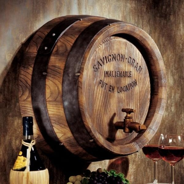 9 Unique Wine Decorations – Wine Gifted Within Wine Barrel Wall Art (Photo 15 of 20)