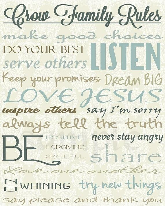 92 Best Wonderfully Made Decor {Business} Images On Pinterest Inside Personalized Family Rules Wall Art (Photo 7 of 20)
