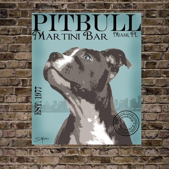 94 Best Pit Bull Art Images On Pinterest | Pit Bull Art, Pit Bulls Inside Pitbull Wall Art (Image 2 of 20)