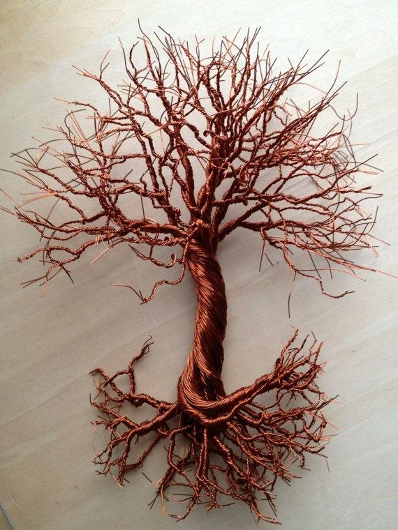 Featured Image of Copper Oak Tree Wall Art
