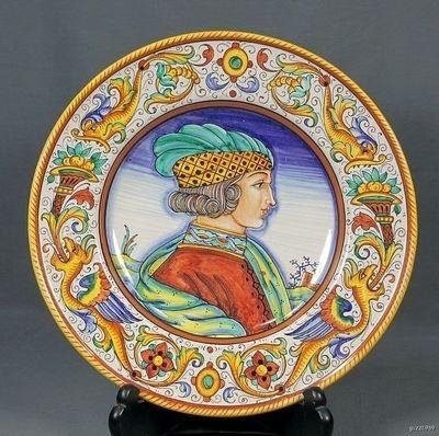 99 Best Raffaellesco Images On Pinterest | Italian Pottery, Hand Regarding Midnight Italian Plates Wall Art (Photo 3 of 20)