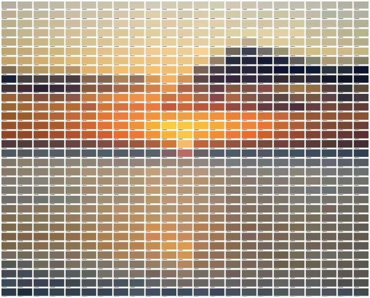 A Paint Chip Y Landscape | Thoroughly Modern Tilly Throughout Paint Swatch Wall Art (Image 8 of 20)