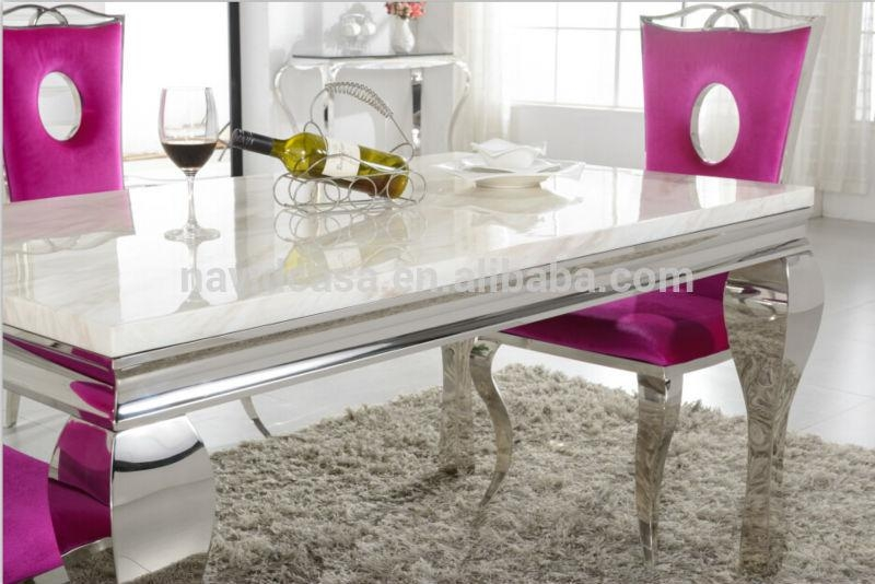 A8028 Wholesale White Marble 8 Seater Dining Table And Chair – Buy With Regard To Latest White Dining Tables 8 Seater (Image 4 of 20)
