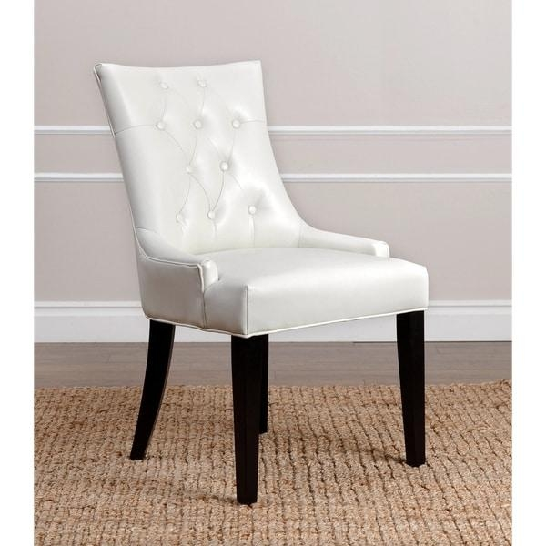 Abbyson Napa Ivory Leather Dining Chair – Free Shipping Today Intended For 2017 Ivory Leather Dining Chairs (View 2 of 20)