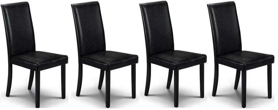 Abdabs Furniture – Hudson Black Dining Chairs – Set Of Four Pertaining To Latest Black Dining Chairs (View 14 of 20)