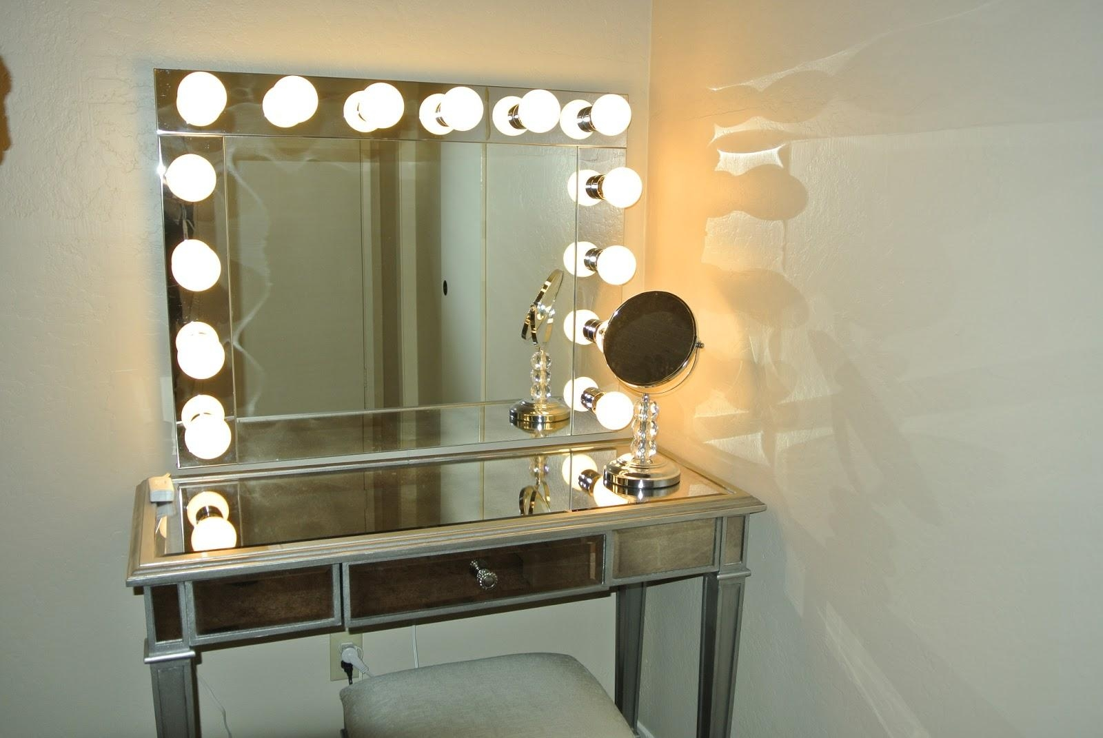 Accessories: Mirror Vanity Tray | Mirrored Vanity | Lowes Vanity Throughout Wall Mounted Lighted Makeup Mirrors (Image 1 of 20)