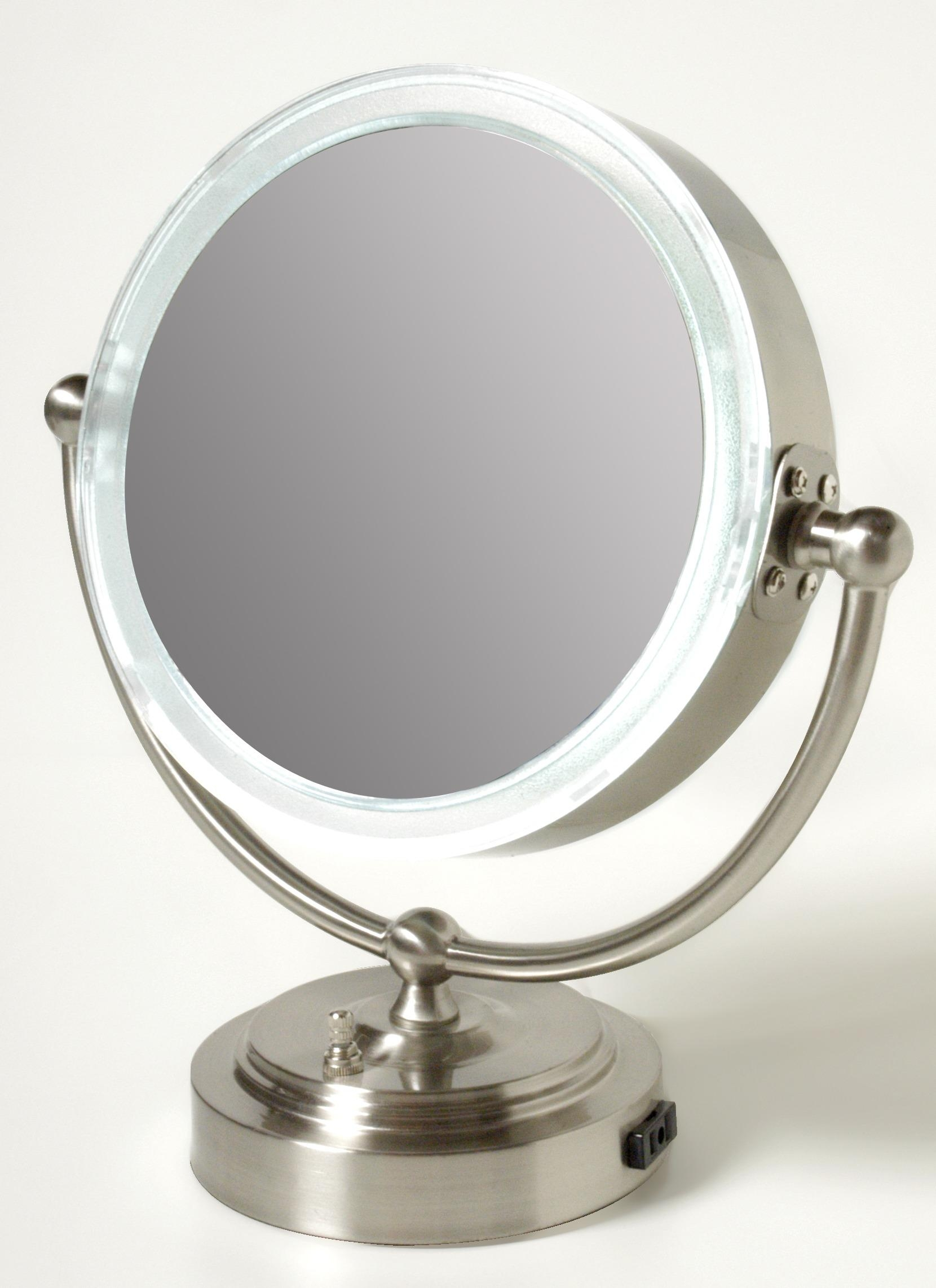 Accessories: Vanity Mirror With Lights Walmart | Lighted Make Up Regarding Magnified Vanity Mirrors (Image 2 of 20)