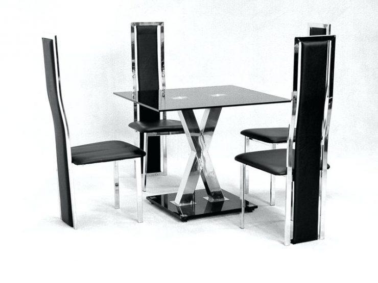 Actona Glass Dining Table And 4 Chairs Set (View 12 of 20)