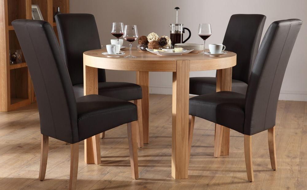 Adorable 4 Chair Dining Table Round Kitchen Table With 4 Chairs Within Most Up To Date Circular Dining Tables For  (Image 1 of 20)