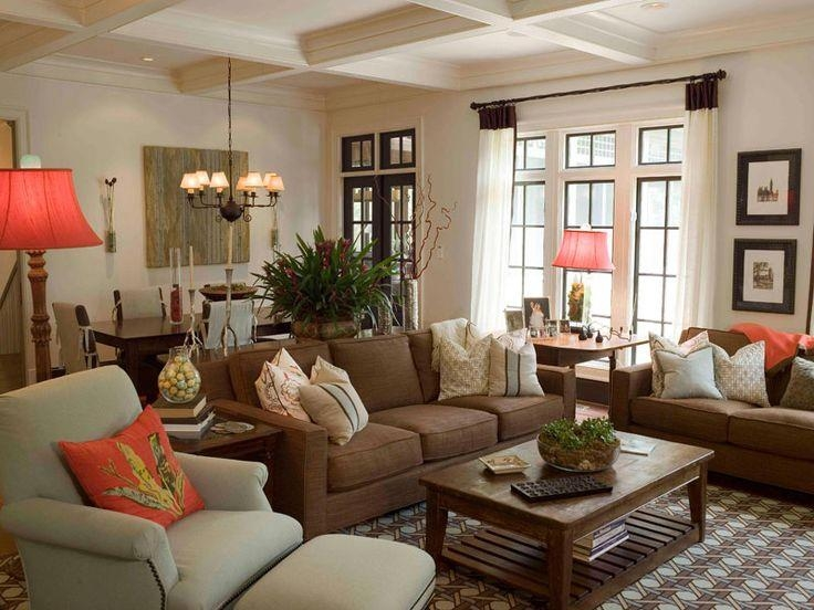 Adorable Dark Brown Living Room And Best 10 Brown Sofa Decor Ideas Within Living Room With Brown Sofas (Image 8 of 20)