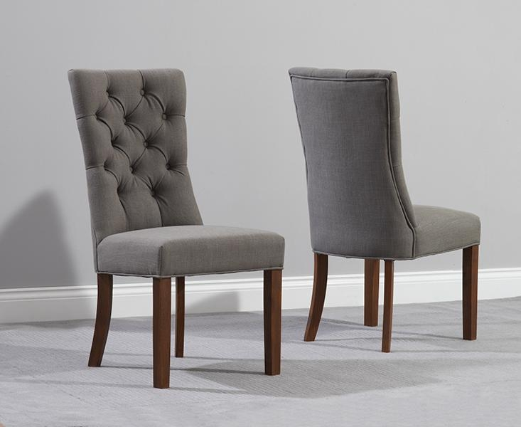 Adorable Upholstered Parsons Dining Chairs With Anais Grey Fabric With Regard To Most Current Grey Dining Chairs (Image 2 of 20)