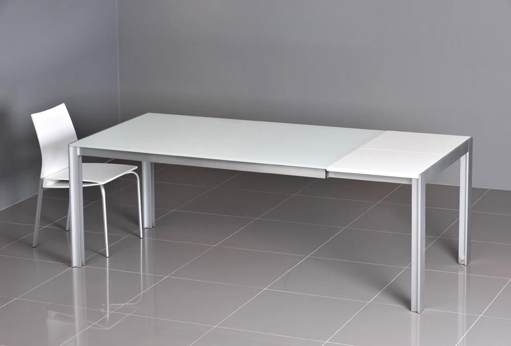 Adorable White Glass Dining Table With Glass Dining Table Sets Intended For Best And Newest Small White Extending Dining Tables (Image 1 of 20)