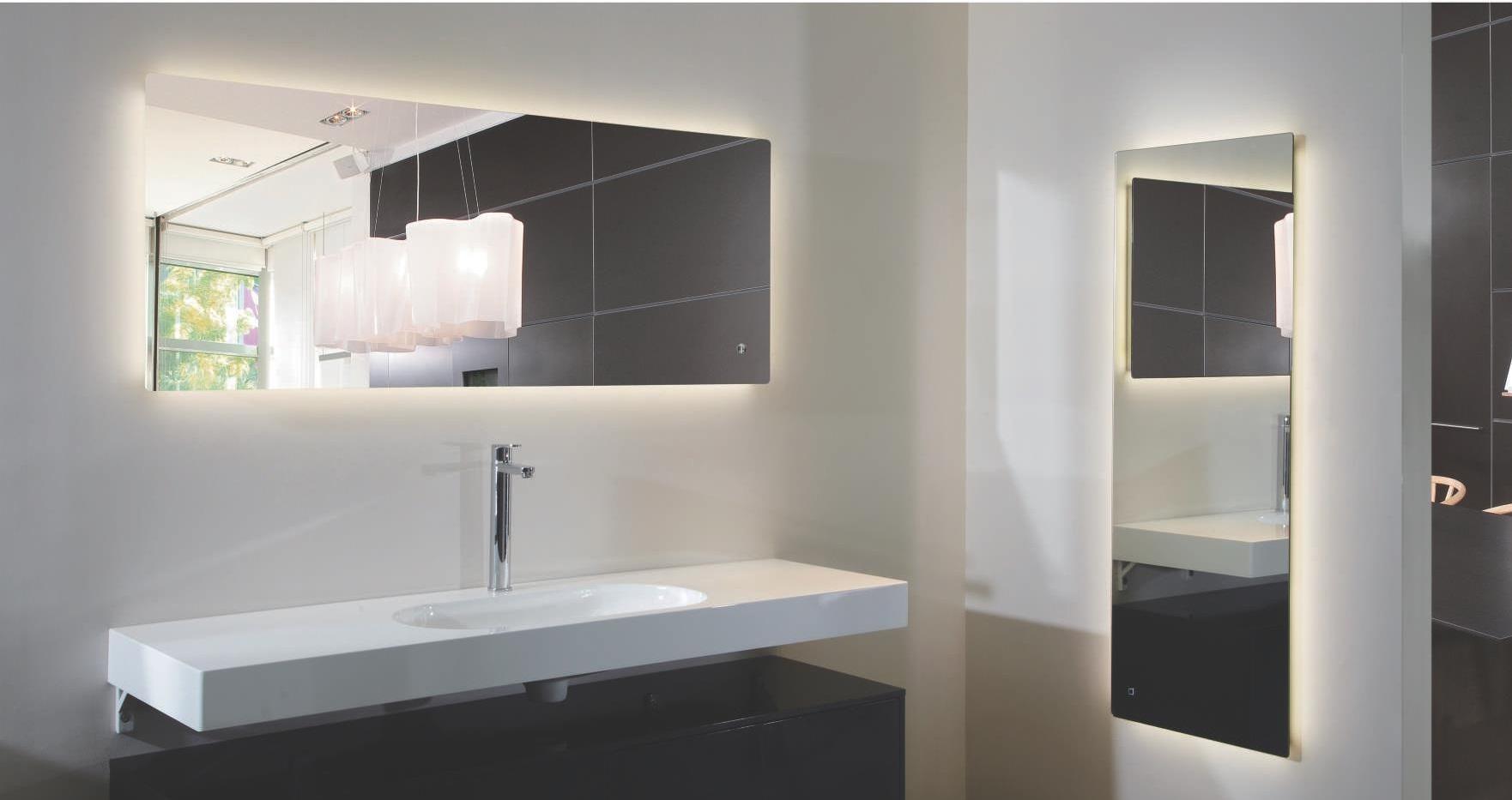 Afina Illume Led Backlit Rectangular Bathroom Mirror Of With Back With Regard To Led Illuminated Bathroom Mirrors (Image 1 of 20)