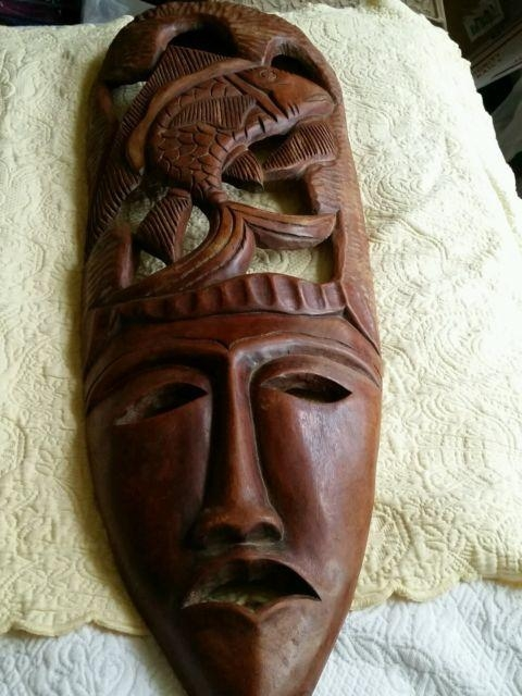 African Masks Collection On Ebay! In Wooden Tribal Mask Wall Art (Image 6 of 20)