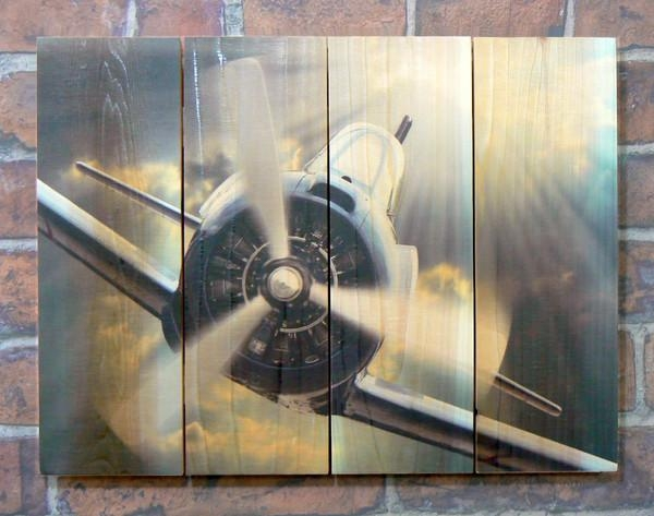 Airplane Wood Outdoor Wall Art | Aviation Art | Airplane Wall Art Pertaining To Metal Airplane Wall Art (View 2 of 20)