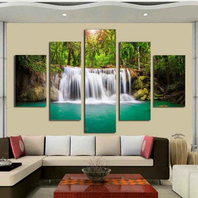 Featured Image of Moving Waterfall Wall Art