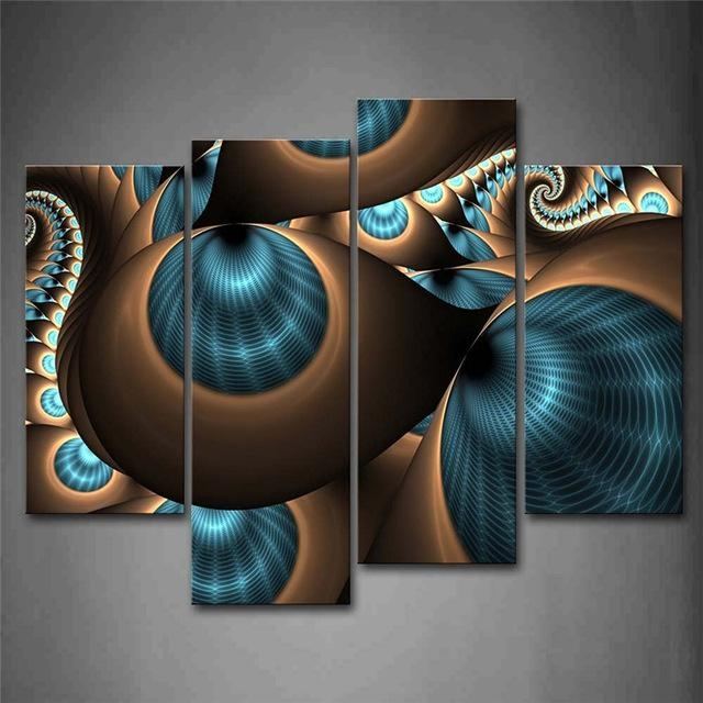Aliexpress : Buy Abstract Blue Brown Like Several Holes Wall Inside Blue And Brown Wall Art (Image 4 of 20)