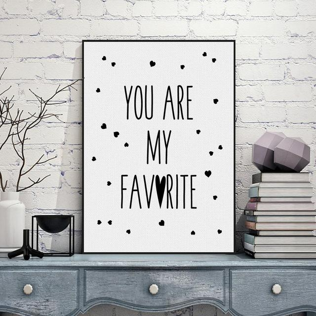 Aliexpress : Buy Black White Nordic Minimalist Typography Love Inside Typography Canvas Wall Art (View 13 of 20)
