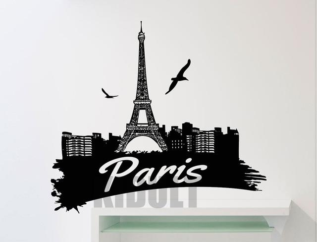 Aliexpress : Buy Creative Wall Decals Eiffel Tower Paris Flag Throughout Art Deco Wall Decals (Image 2 of 20)